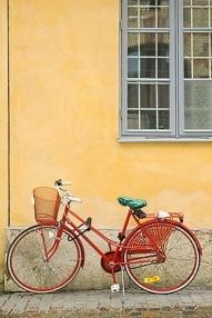 Simple red bike frame