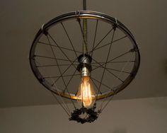 Reused bike wheel