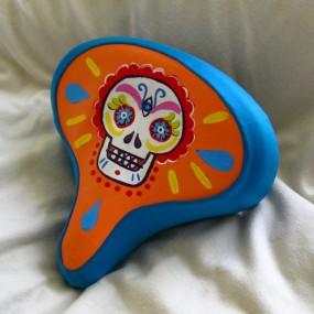 Sugar skull bike seat