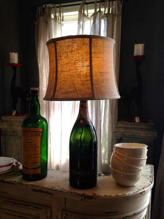 A bottle lamp, much like the kind making!