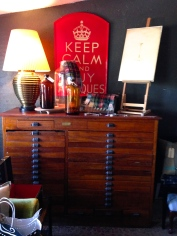 A Simons & Co. Wood Letterpress Cabinet