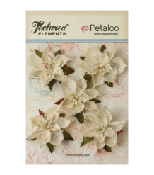 Textured Elements burlap flowers
